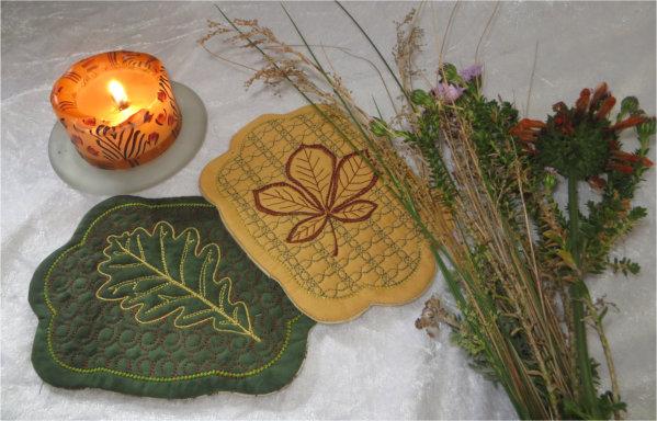 ITH Autumn Leaf Candle Mats