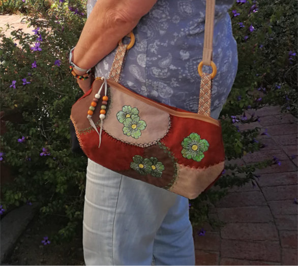 ITH Patchwork Crazy Quilted Shoulder Purse