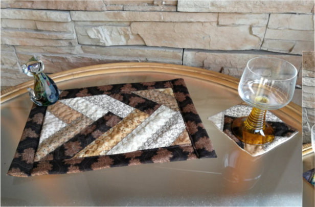 ITH BraidQuilted Place Mat and Coaster