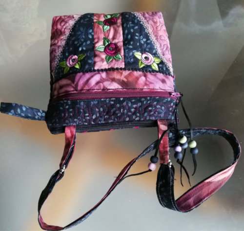 ITH Double Zipper Compartment Rose Purse -7