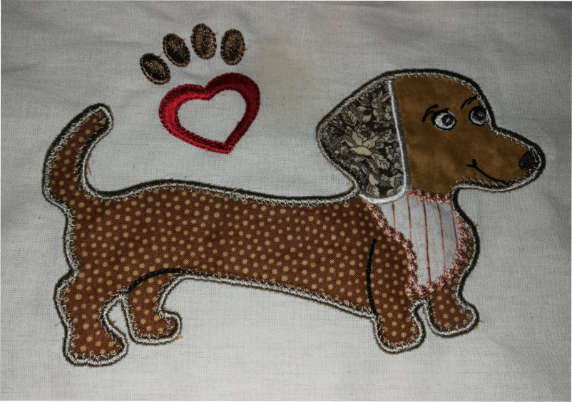 Applique Dachshund