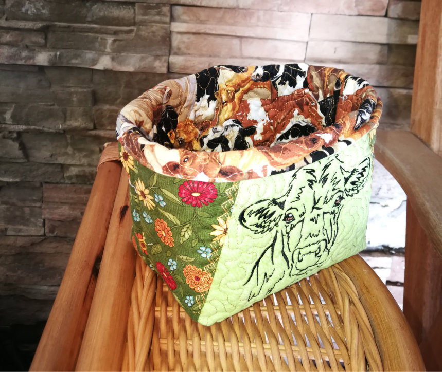Country Life Cow Basket-7
