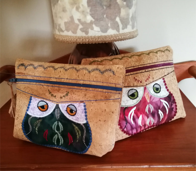 Cork Purse With Owl Applique-4