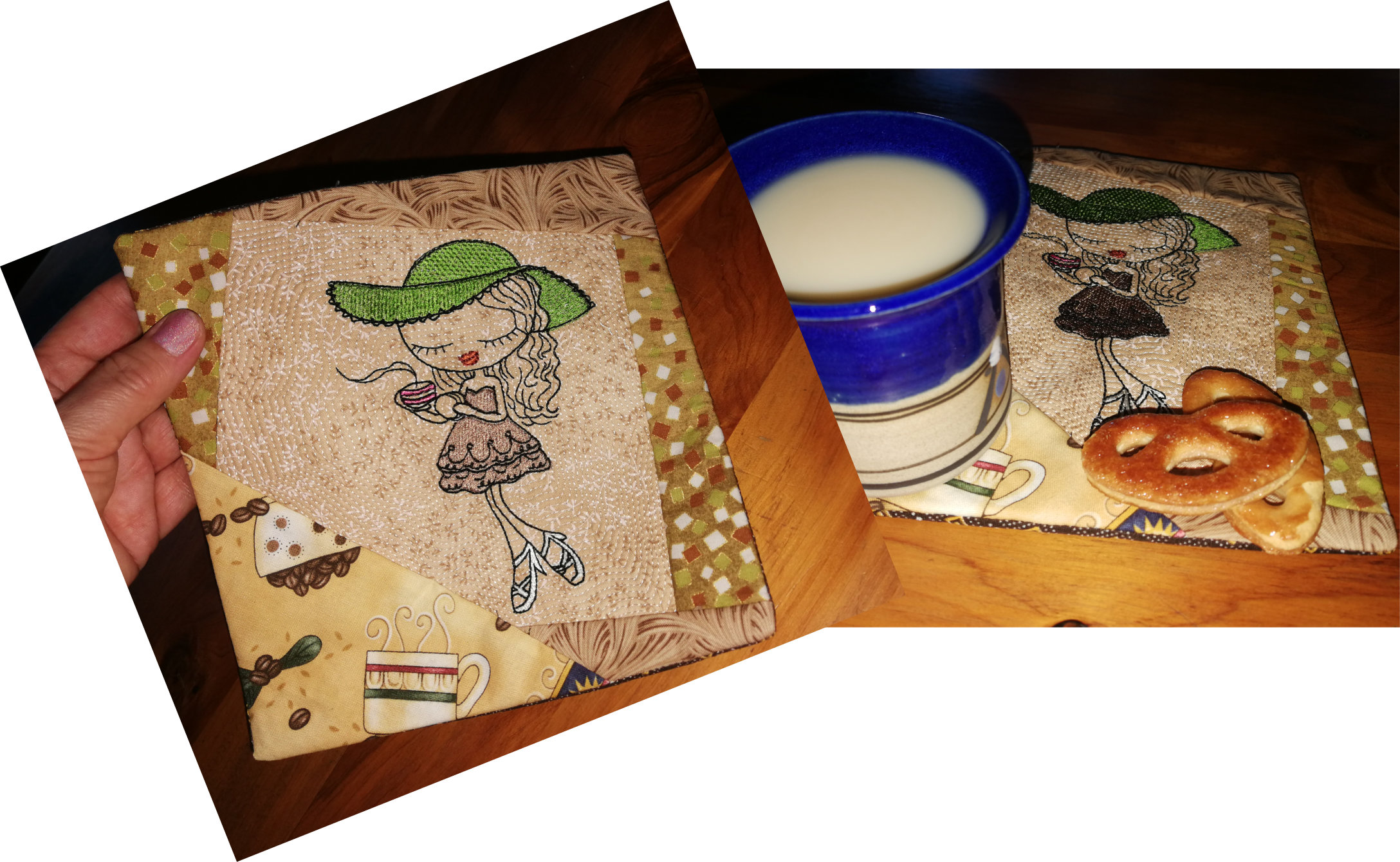 Coffee Time Mug Rug-7