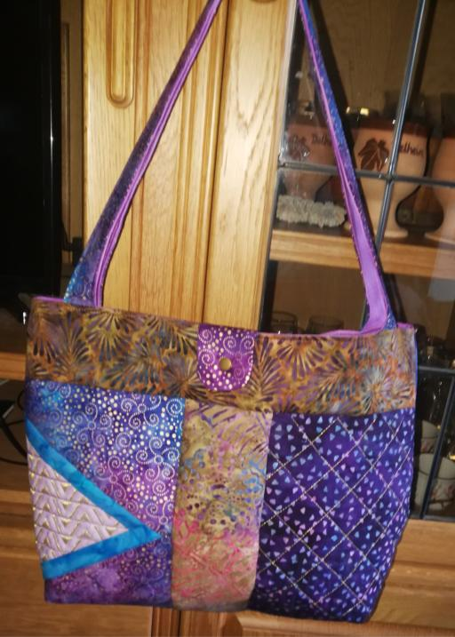 2 Panel Batik BOHO Shoulder Bag-3