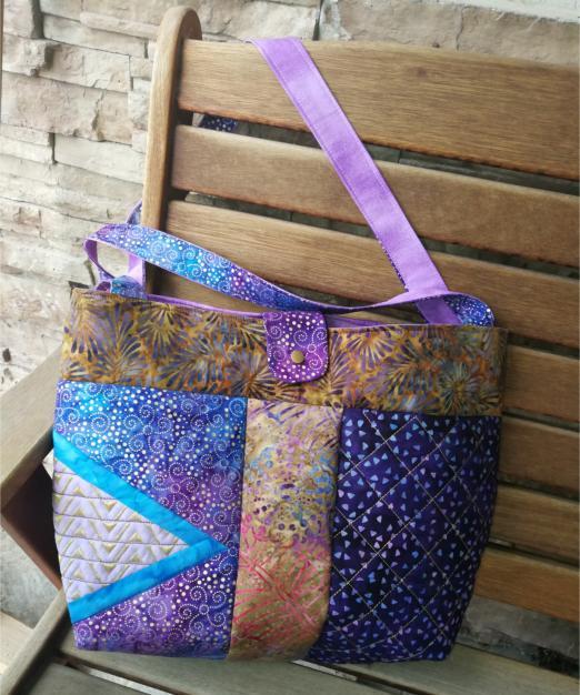 2 Panel Batik BOHO Shoulder Bag-8
