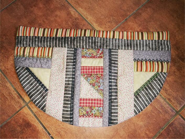 Patchwork Half Round Floor Mat-3