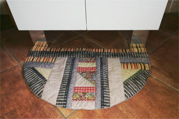 Patchwork Half Round Floor Mat-6