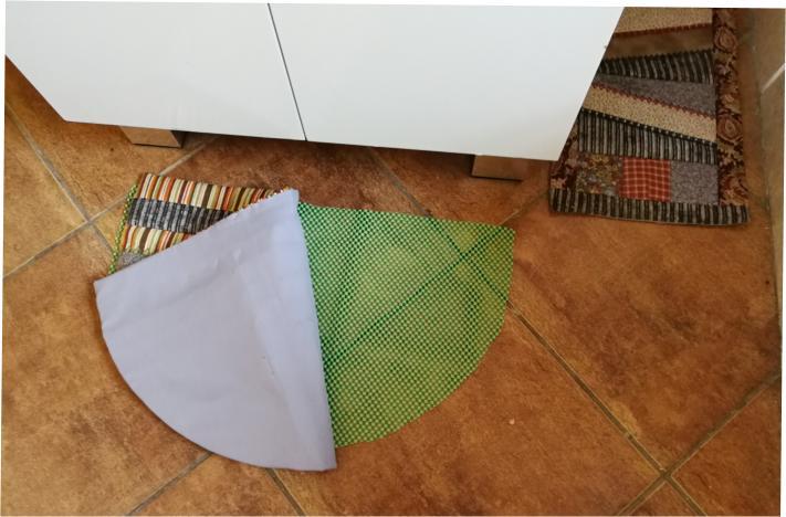 Patchwork Half Round Floor Mat-8