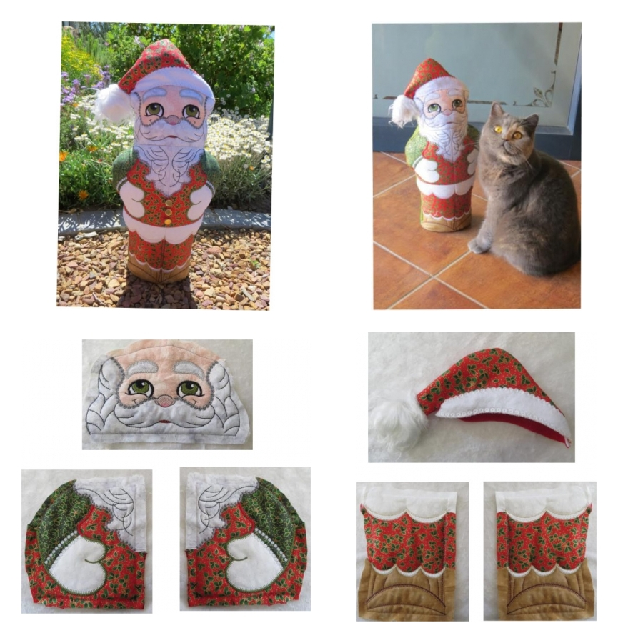 ITH Quilted Santa