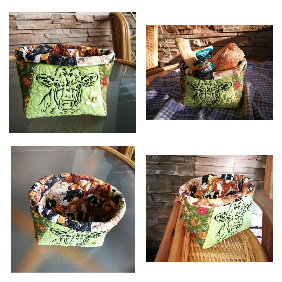 Country Life Cow Basket