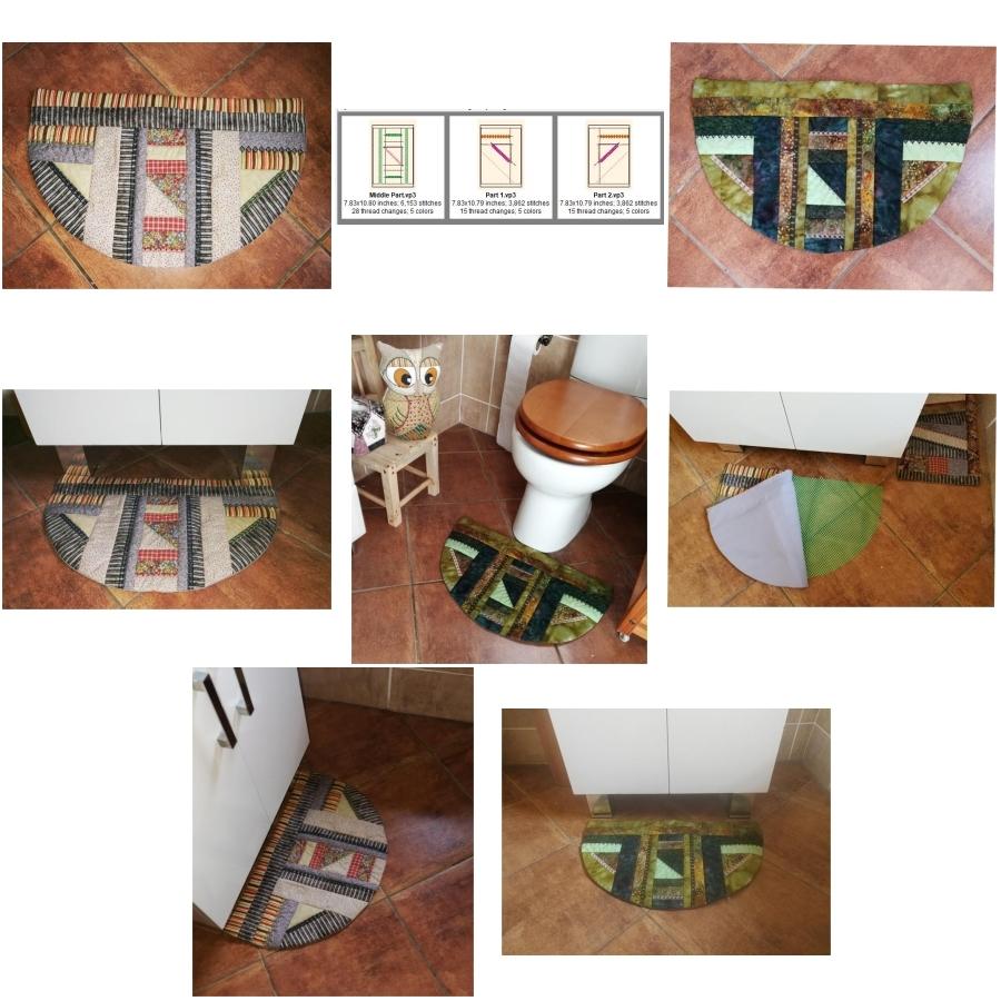Patchwork Half Round Floor Mat