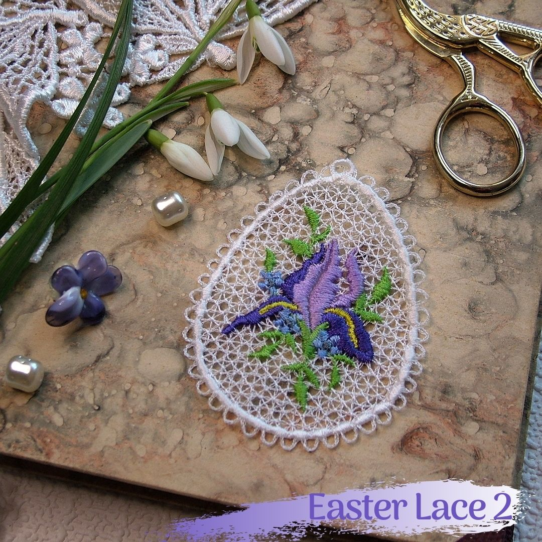 easter free-standing lace fsl decoration iris rose floral flower anthuria rose lily