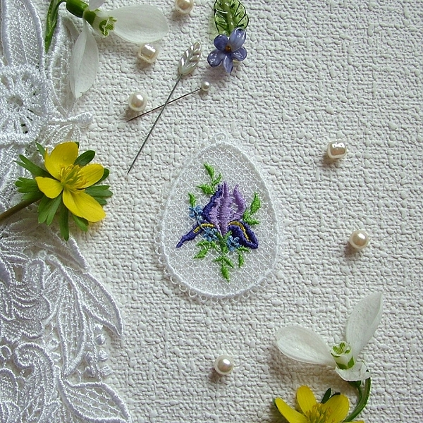easter free-standing lace fsl decoration iris