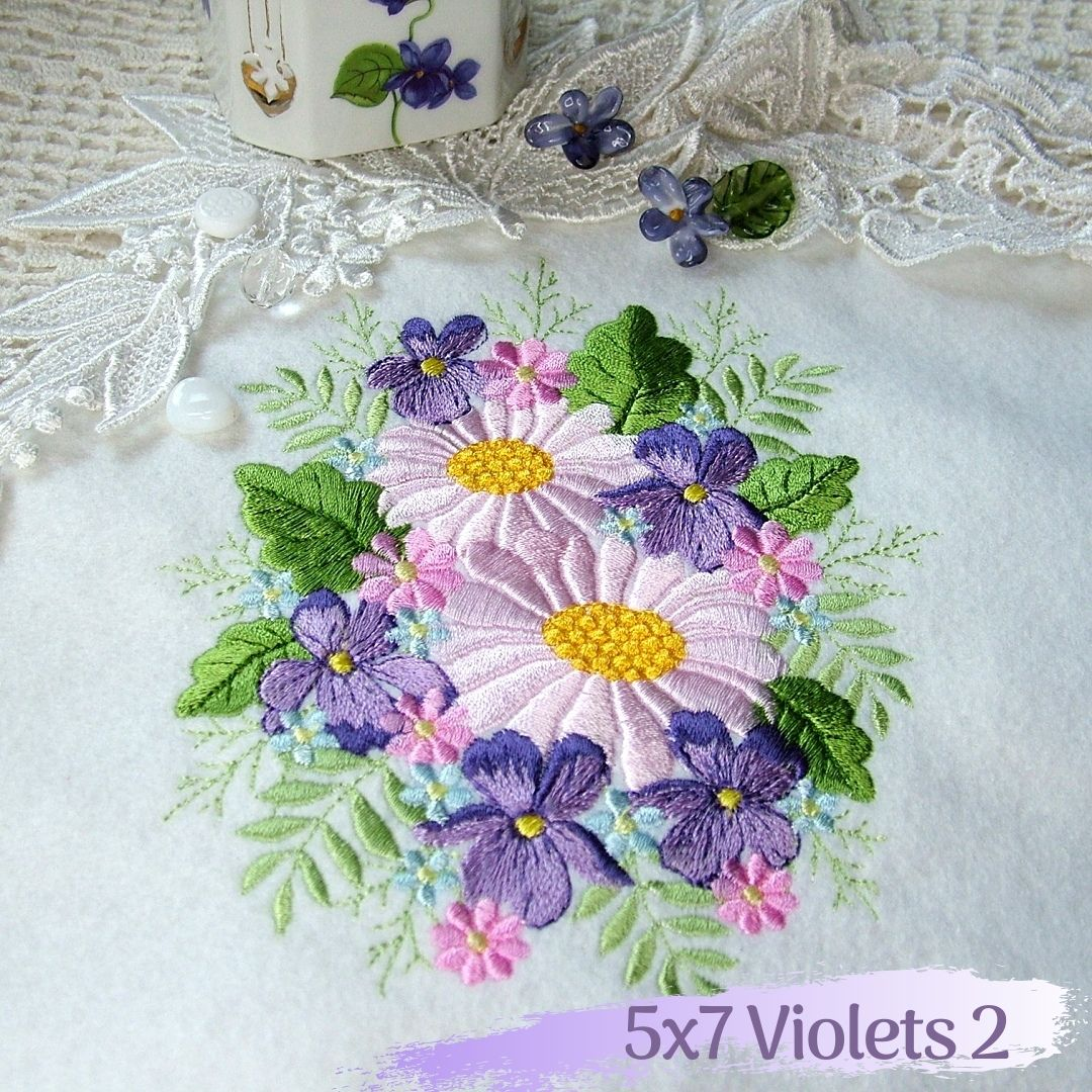 violet flower floral fan pillow daisy frame rose daffodil