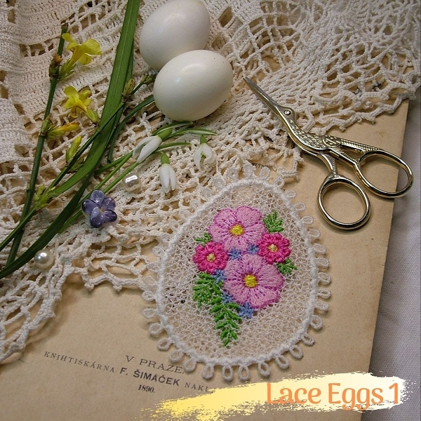 easter free-standing lace fsl decoration