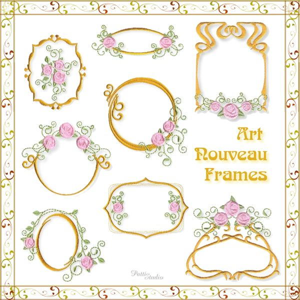 Art Nouveau Frames -3