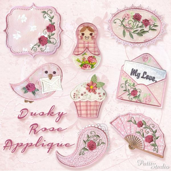 Dusky Rose Applique-3