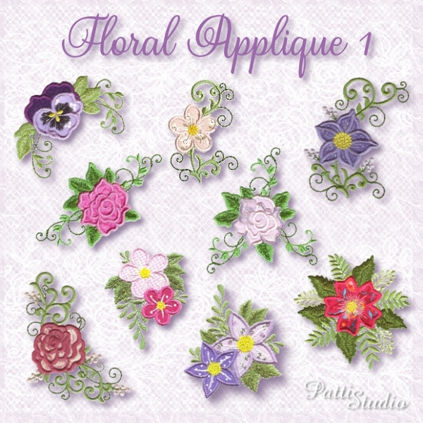 Floral Applique -3