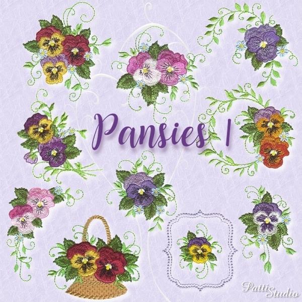 Pansies 1 -3