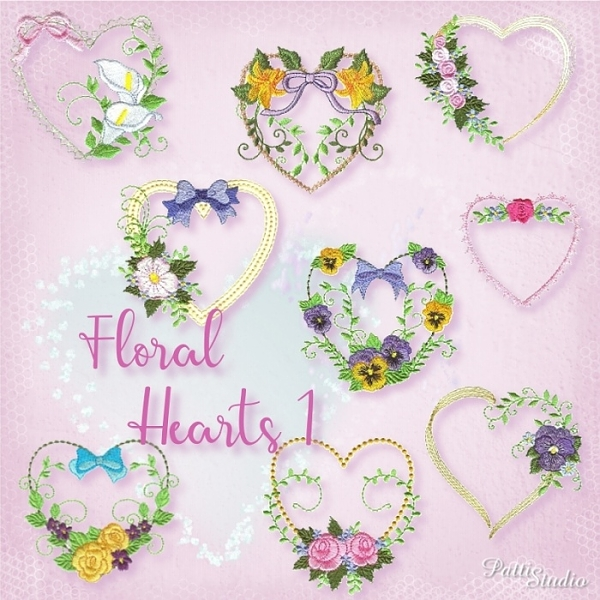Floral Hearts 1 -3