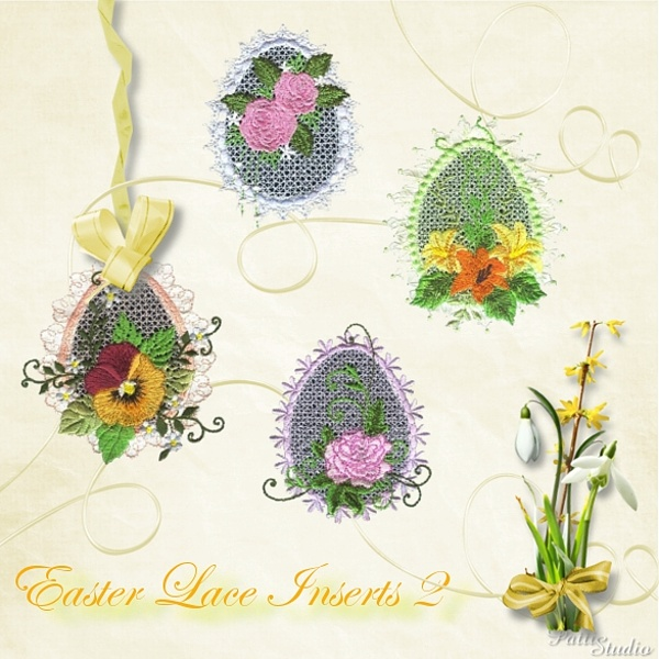 Easter Lace Inserts 2 -3