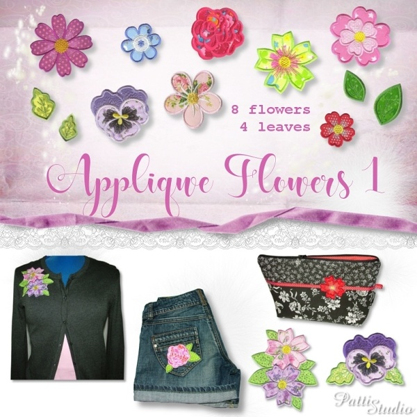 Applique Flowers 1 -3