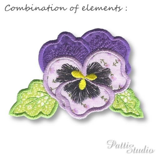 Applique Flowers 1 -4