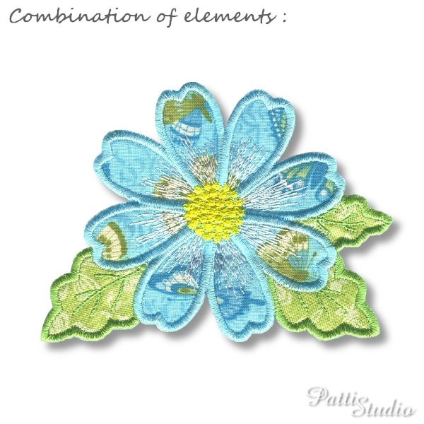 Applique Flowers 1 -10