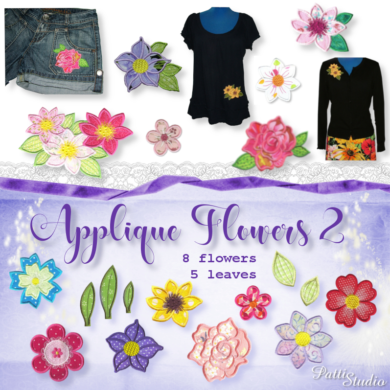Applique Flowers 2-3