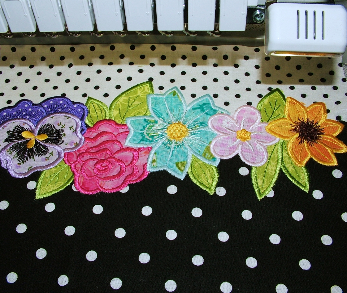 Applique Flowers 2-19