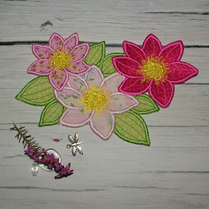 Applique Flowers 2-27