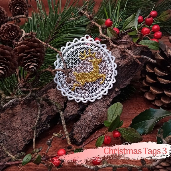 free-standing FSL lace christmas xmas holiday jingle bells star bauble ball reindeer candlewicking pine branch decoration ornament silver gold angel