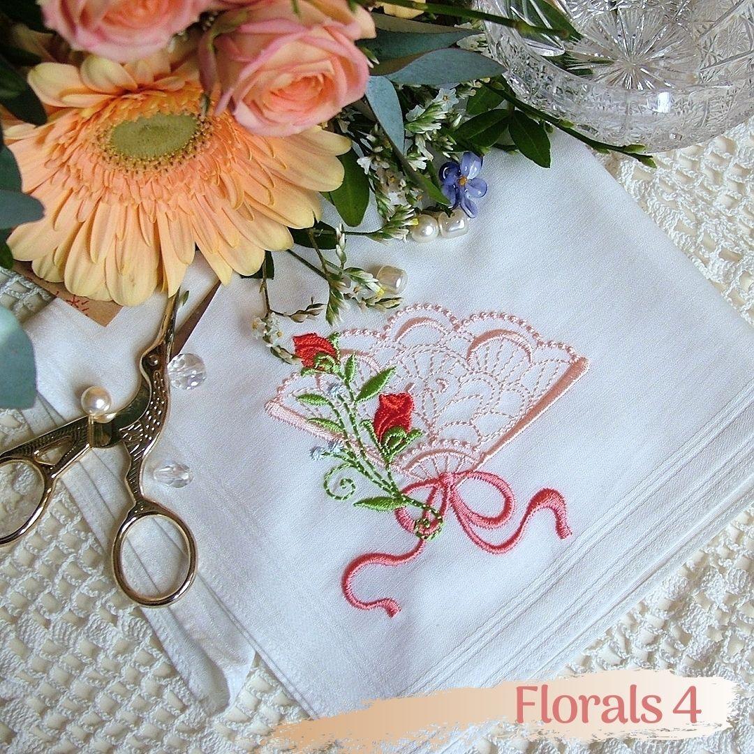 rose floral flower fan bouillon violet basket dogwood butterfly