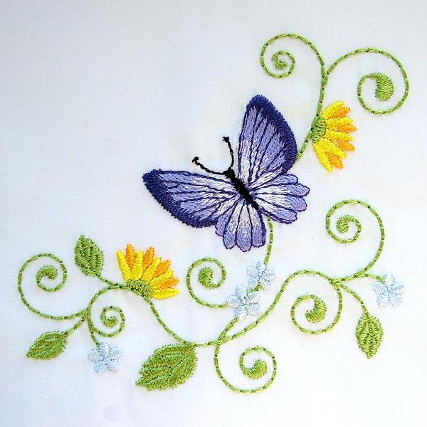 flower floral green greenery butterfly