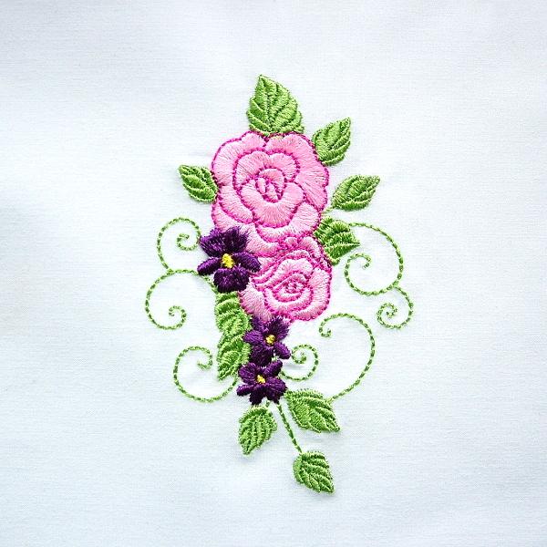 flower floral green greenery rose roses violet