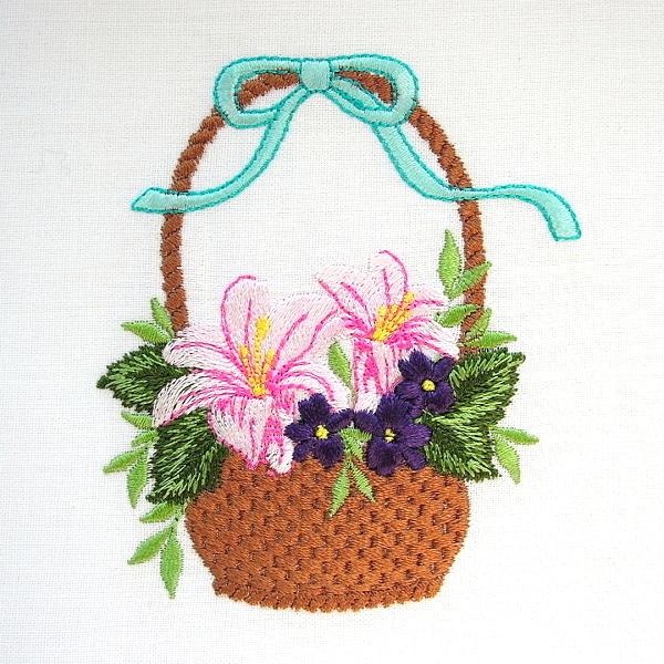 flower floral green greenery violet basket
