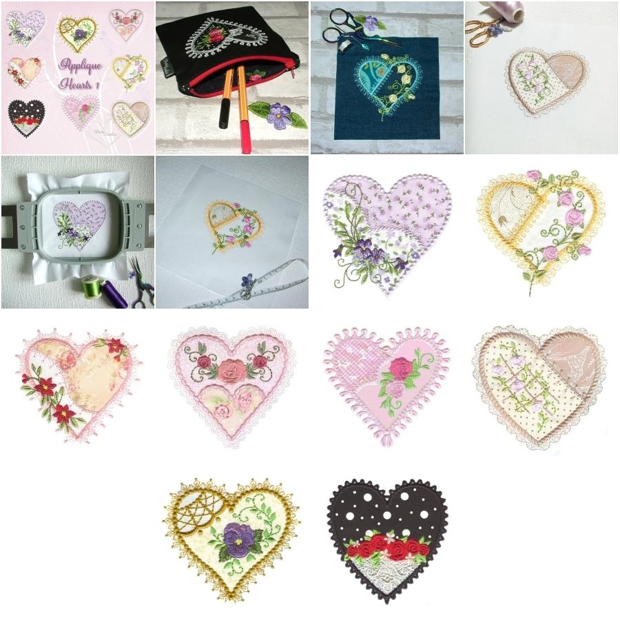Applique Hearts 1