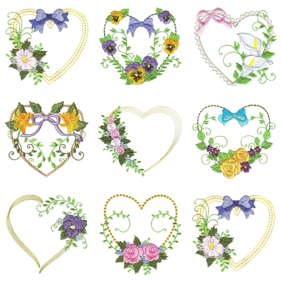 Floral Hearts 1