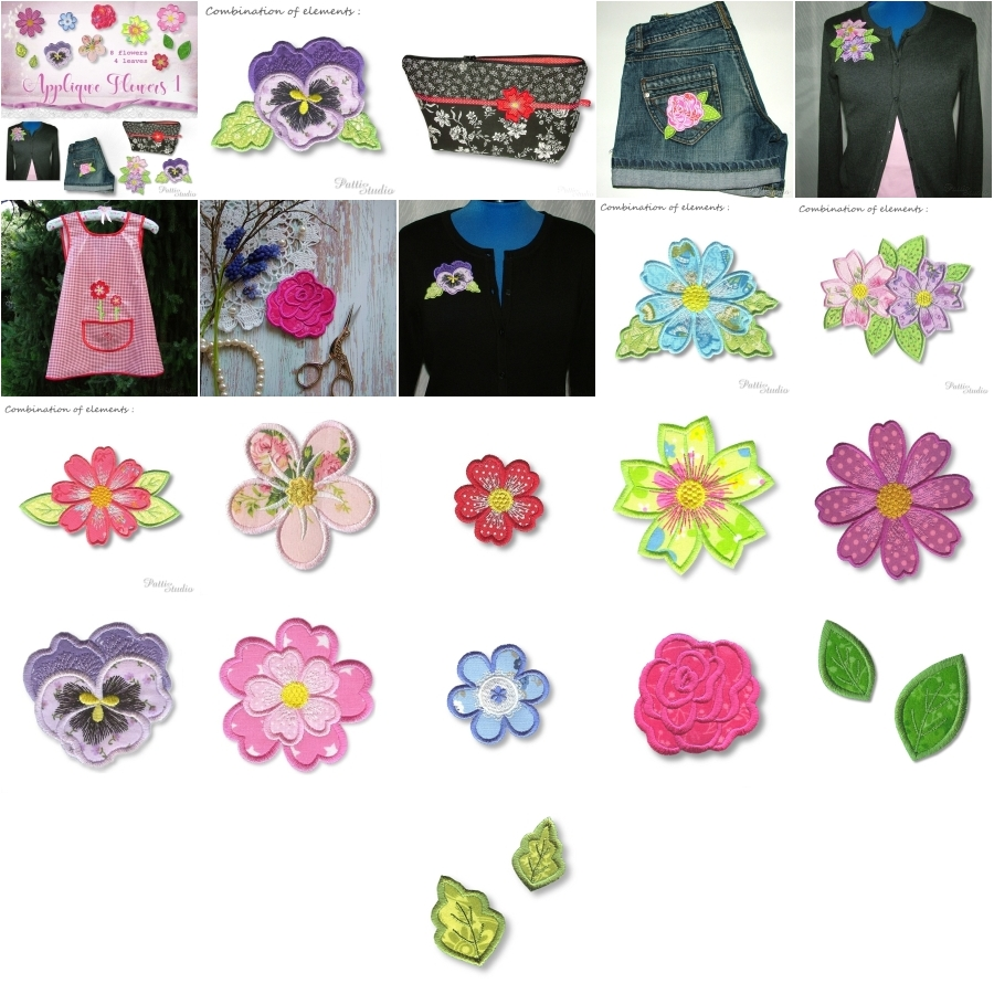 Applique Flowers 1