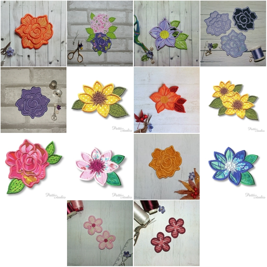 Applique Flowers 2