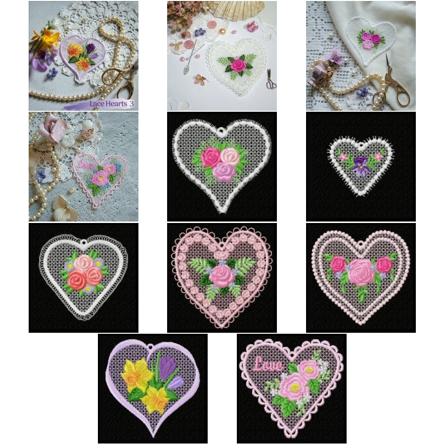 Lace Hearts 3