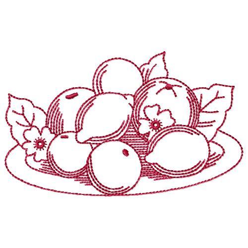 Redwork Fruit 09