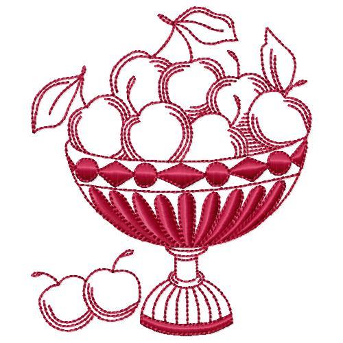 Redwork Fruit 10