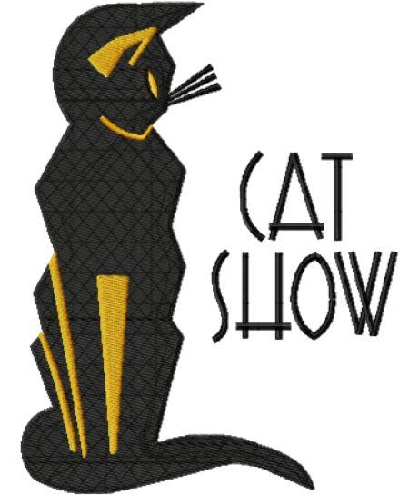Cat Show Art Deco Poster c1930