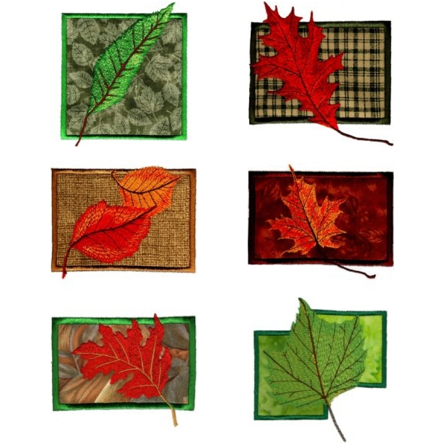 Falling Leaves on Applique