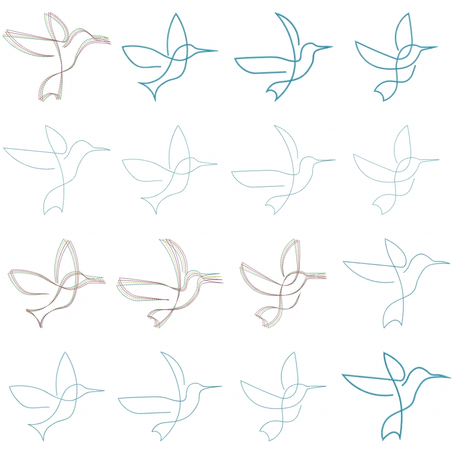 Line Drawings: Swallows