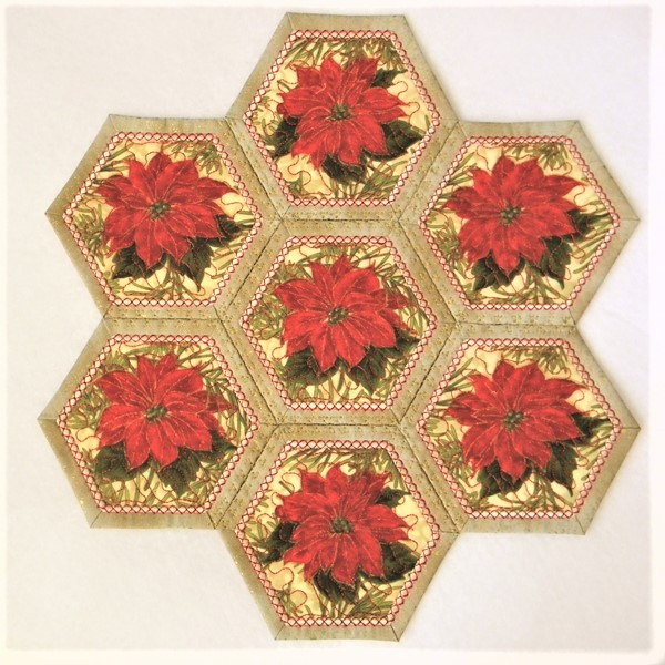 Hexagon Placemat and Coasters - Small-3