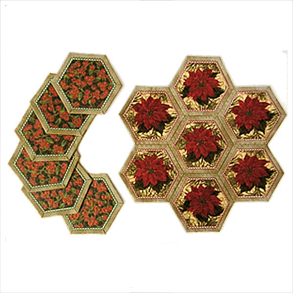 Hexagon Placemat and Coasters - Small-4