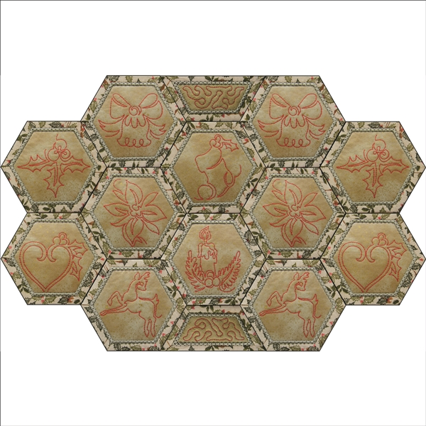 Hexagon Placemat and Coasters - Small-5